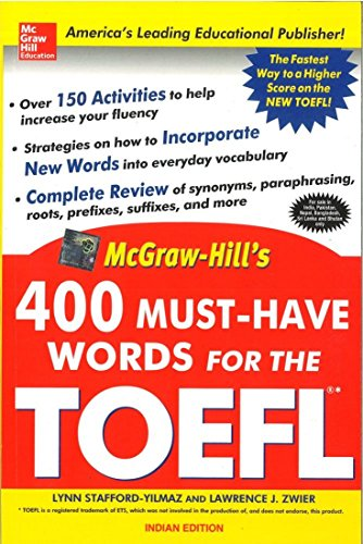 9780070601031: 400 Must-Have Words for the TOEFL 1ED