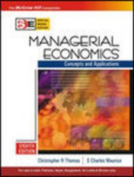 9780070601604: Managerial Economics : Concepts and Applications International Eighth Edition
