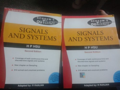 9780070601710: Signals And Systems Schaums Outlines