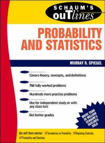9780070602205: Schaum's Outline of Theory and Problems of Probability and Statistics (Schaum's Outline S.)