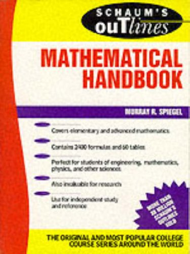 Schaum's Outline of Mathematical Handbook of Formulas and Tables (0070602247) by Murray R. Spiegel