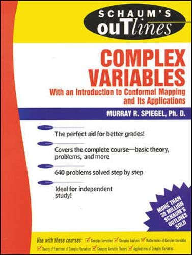 Theory and Problems of Complex Variables. With: Spiegel, Murray R.