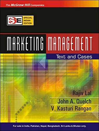 Marketing Management: Text and Cases, (Special Indian: John A. Quelch,Rajiv