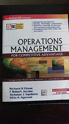 9780070604483: [Operations Management For Competitive Advantage] [by: 10th Edit Chase and Jacobs and Aquilano]