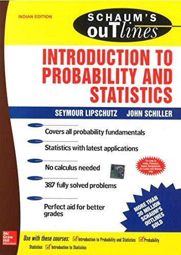 9780070605015: Schaum's Outline of Introduction to Probability and Statistics