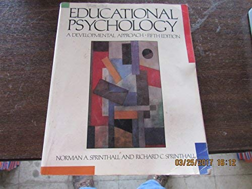 9780070605411: Educational Psychology: A Developmental Approach