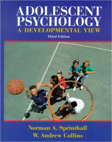 9780070605442: Adolescent Psychology: A Developmental View