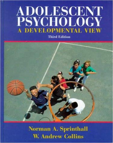9780070605442: Adolescent Psychology: A Developmental View