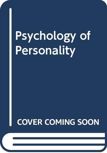9780070606890: Psychology of Personality (McGraw-Hill series in psychology)