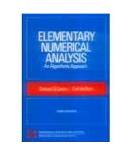 9780070607422: Elementary Numerical Analysis An Algorithmic Approach: 3ED