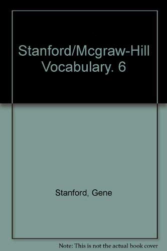 9780070607620: Stanford/Mcgraw-Hill Vocabulary. 6