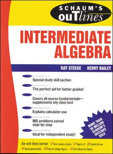 9780070608399: Schaum's Outline of Intermediate Algebra (Schaum's Outline Series)