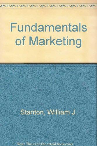 9780070608481: Fundamentals of Marketing