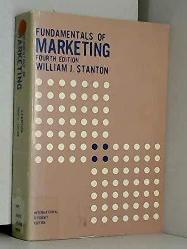 9780070608627: Fundamentals of marketing