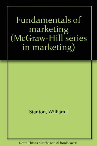 9780070608917: Fundamentals of marketing (McGraw-Hill series in marketing)