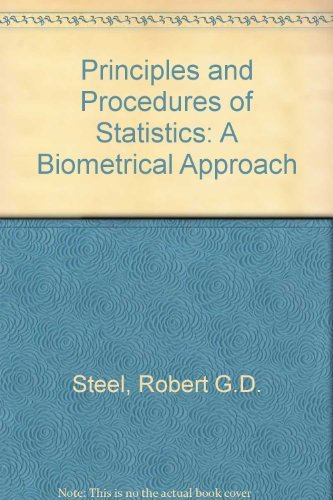 9780070609266: Principles and Procedures of Statistics: A Biometrical Approach