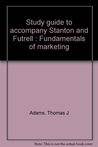 9780070609464: Study guide to accompany Stanton and Futrell : Fundamentals of marketing