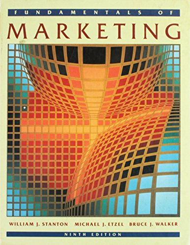 9780070609525: Fundamentals of Marketing (McGraw-Hill series in marketing)
