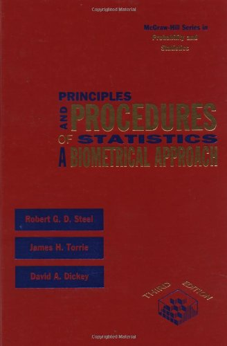 9780070610286: Principles and Procedures of Statistics: A Biometrical Approach (McGraw-Hill Series in Probability and Statistics)