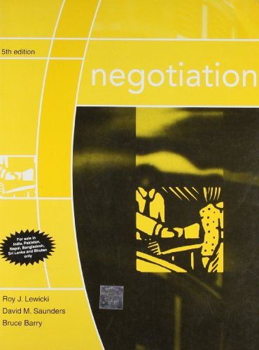 9780070611146: 5TH EDITION NEGOTIATION PAPERBACK BOOK