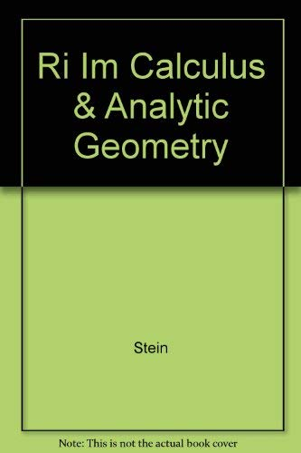 9780070611894: Calculus & Analytic Geometry - Instructor's Manual