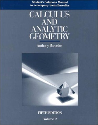 9780070612075: Student Solutions Manual, Volume 2, to accompany Calculus and Analytic Geometry
