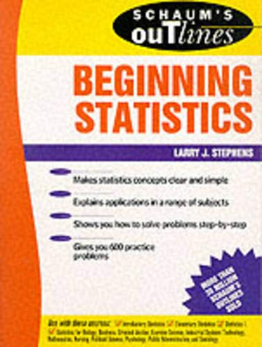 9780070612594: Schaum's Outline of Beginning Statistics (Schaum's)