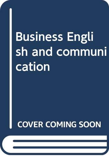 9780070613232: Business English and communication