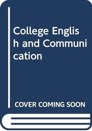 9780070613300: College English And Communication