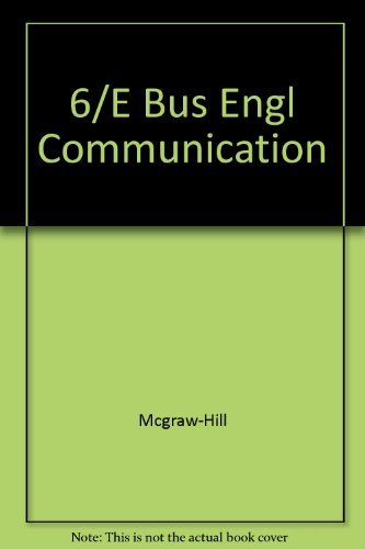 9780070614208: Business English and Communication