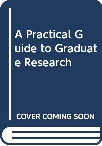 9780070615830: A Practical Guide to Graduate Research