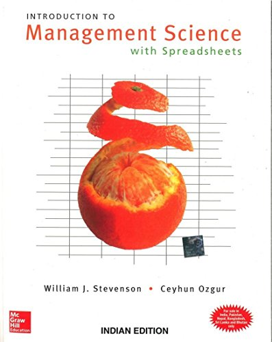 Introduction To Management Science With Spreadsheets (With: Stevenson