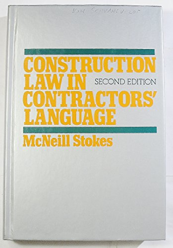 9780070616363: Construction Law in Contractor's Language