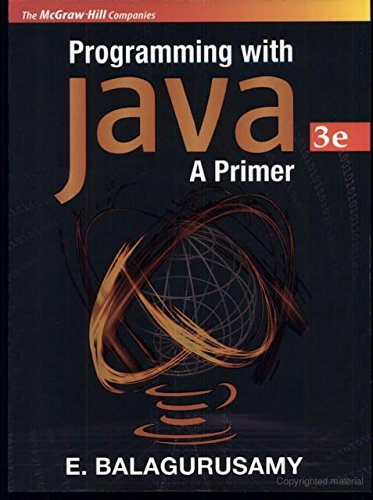9780070617131: PROGRAMMING WITH JAVA A PRIMER --2000 publication.