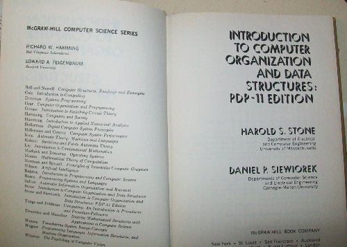 9780070617209: Introduction to Computer Organization and Data Structures, PDP-11 Edition (McGraw-Hill computer science series)