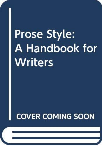 9780070617346: Prose Style: A Handbook for Writers