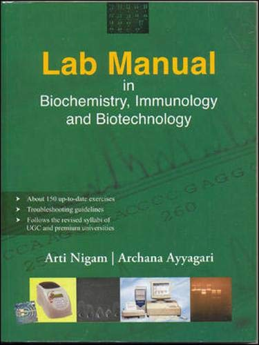 9780070617674: Lab Manual in Biochemistry, Immunology and Biotechnology