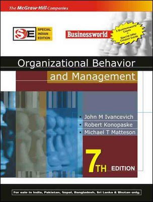 9780070620117: Organizational Behavior and Management