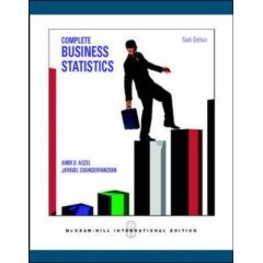 9780070620162: Complete Business Statistics with Student CD