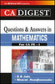 9780070620254: THE CA DIGEST: QUESTIONS AND ANSWERS IN MATHEMATICS FOR CA PE-I