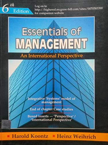 9780070620308: Essentials of Management, An International Perspective, 7th Edition, Koontz, Weihrich