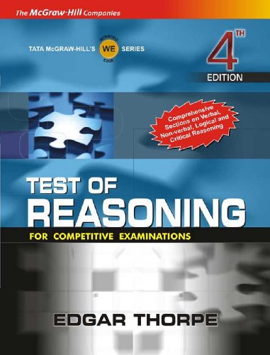 9780070620315: Test Of Reasoning For Competitive Examinations