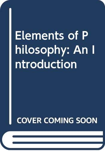 9780070622166: Elements of Philosophy: An Introduction