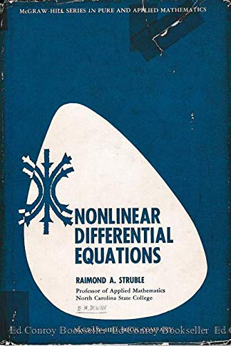 9780070622463: Nonlinear differential equations.