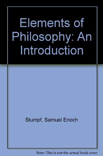 9780070623095: Elements of Philosophy: An Introduction