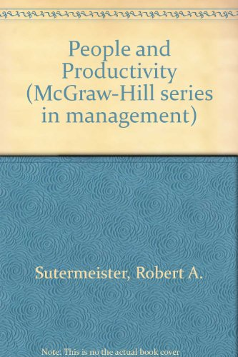 9780070623675: People and Productivity, Third Edition (McGraw-Hill Series in Management)