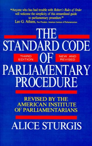 9780070625228: The Standard Code of Parliamentary Procedure