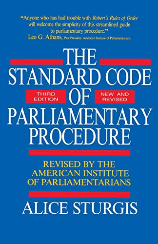 9780070625228: The Standard Code of Parliamentary Procedure (Third Edition, New and Revised)
