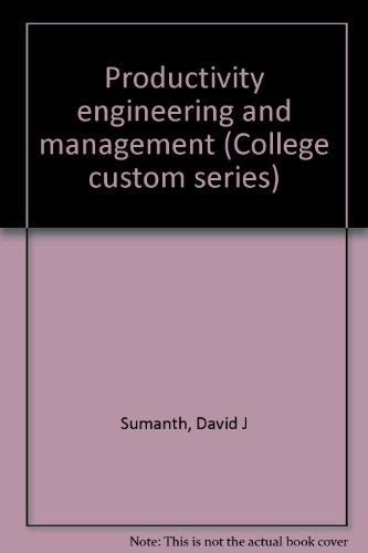 9780070625723: Productivity engineering and management (College custom series)