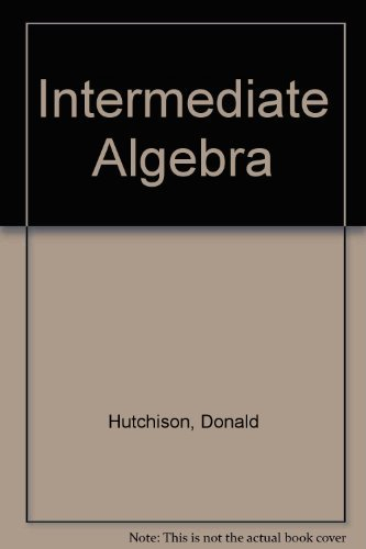 9780070626027: Intermediate Algebra